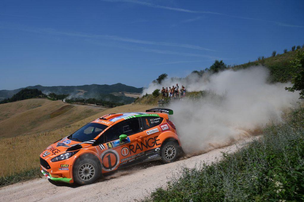 Simone Campedelli, Danilo Fappani (Ford Fiesta GPL R R5 #4, Orange 1 Racing)